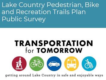 Lake Country Pedestrian, Bike and Recreation Trails Plan Public Survey - Deadline July 5