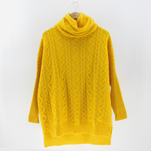 Ladies' Cashmere Cable Poncho Tunic (Style #12253)
