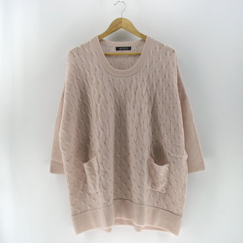 Ladies' Cashmere Cable Poncho Tunic (Style #12585)