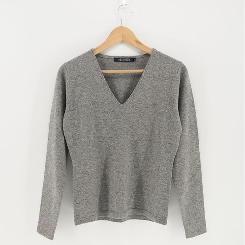Ladies' Cashmere V-Neck Pullover (Style #09227)