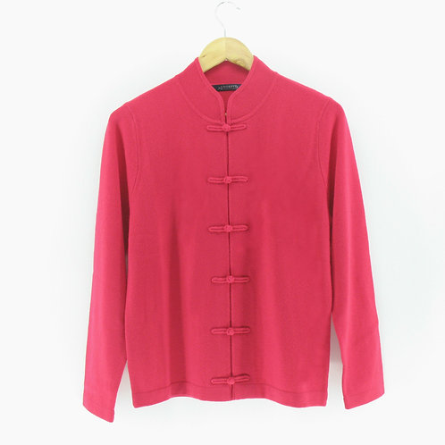 Ladies' Cashmere Chinese Cardigan (Style #12961)