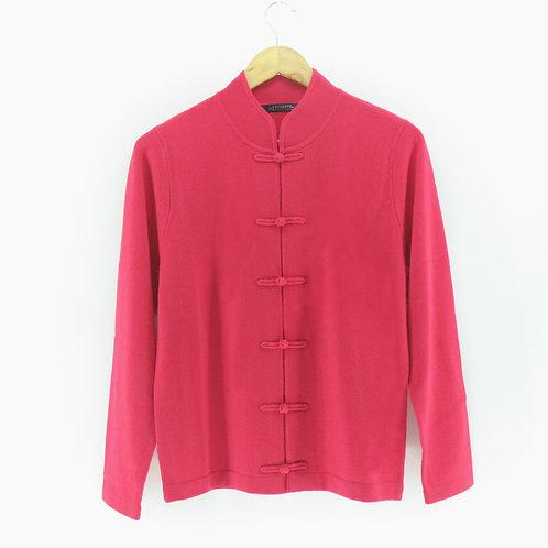 Ladies' Cashmere Chinese Cardigan (Style #12961)
