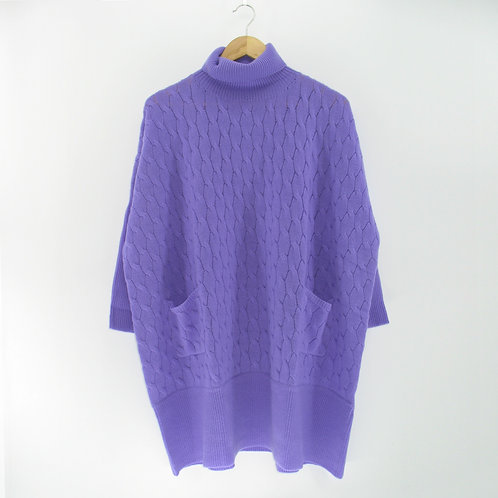 Ladies' Cashmere Cable Poncho Tunic (Style #10506)