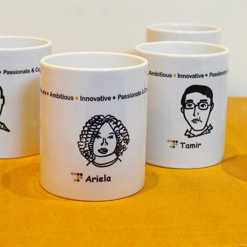 The portraits I made for _Radware_ company 💛 500 different cups! 😅this was one hell of a project!