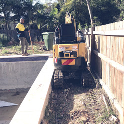 Tight access - New pool landscaping works
