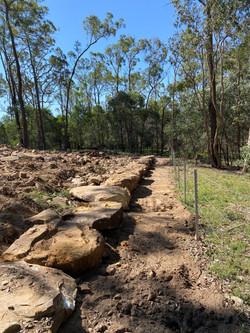 Cattai_Land clear_shape and sandstone edge_progress