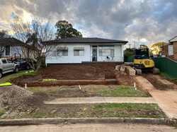 Blacktown_Front yard_stepped retaining w
