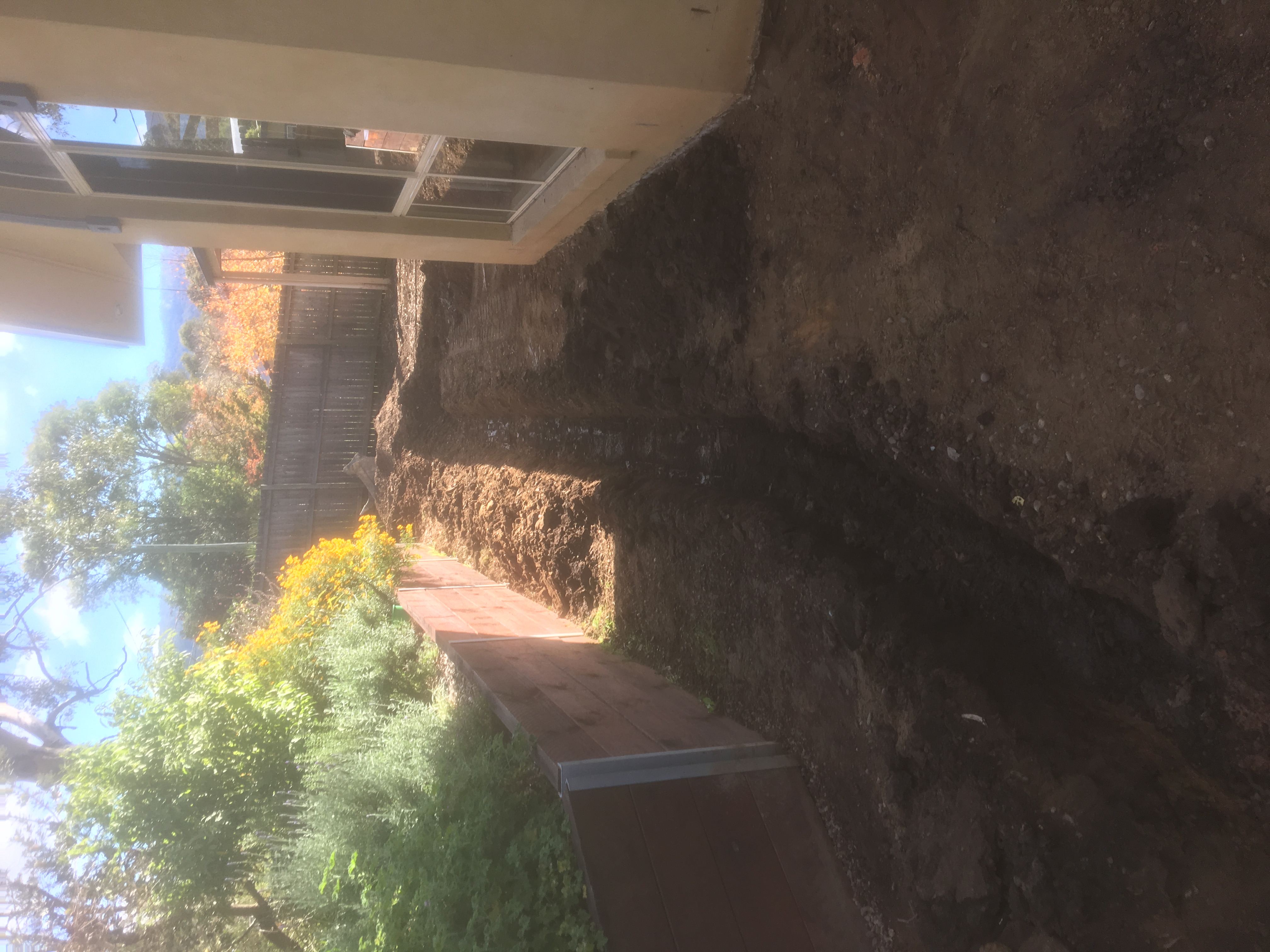 Drainage works before driveway pour