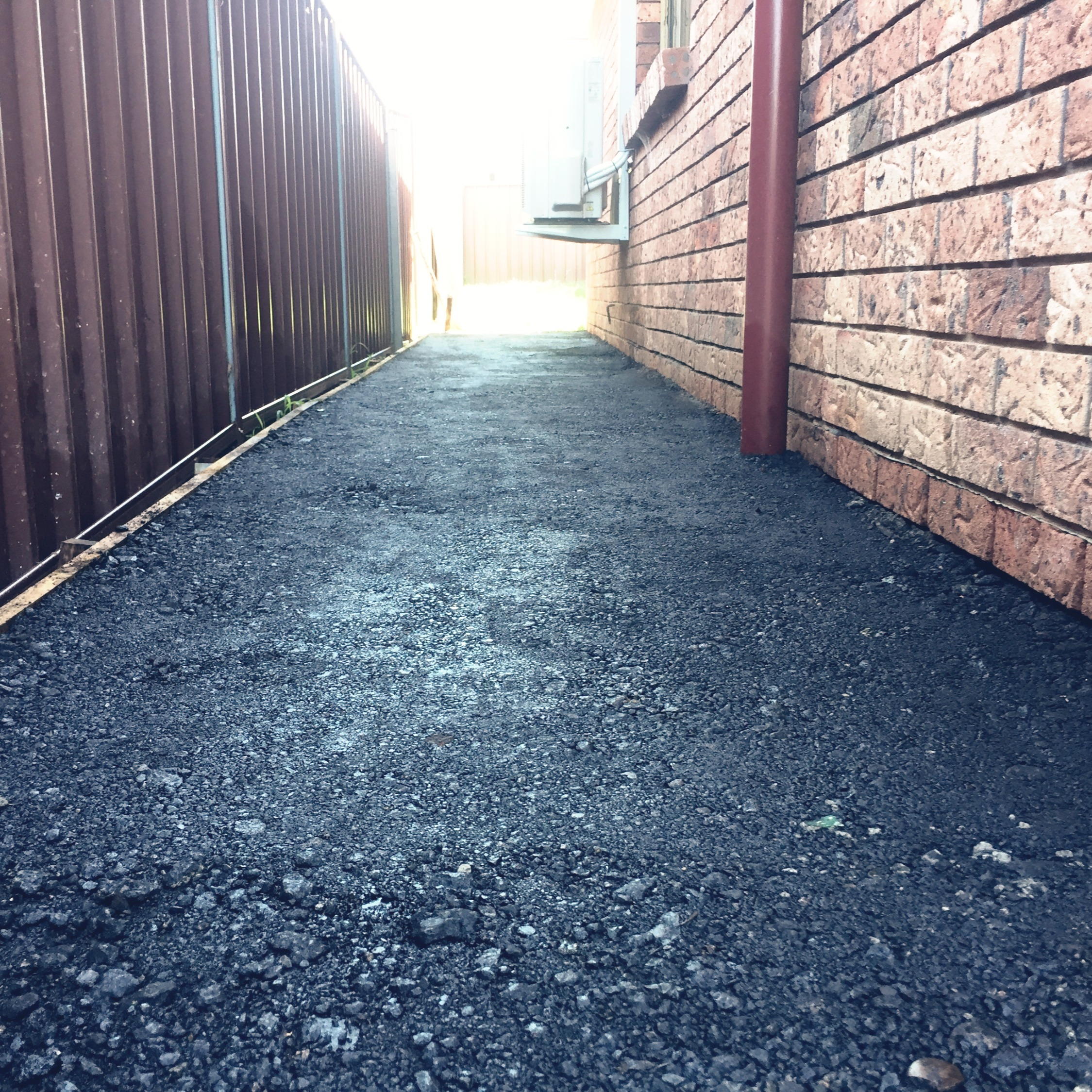 Recycled Asphalt Side Access Path