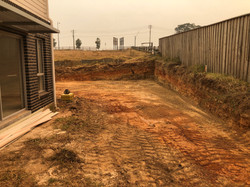Preparations for retaining wall