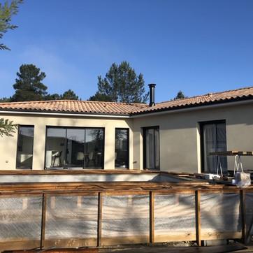 Construction d'une maison avec garage