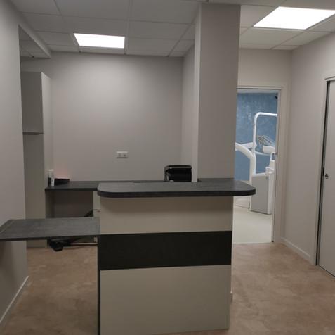 Rénovation d'un local en cabinet dentaire