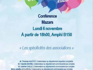 Conférence du 06/11/2017 avec Mazars
