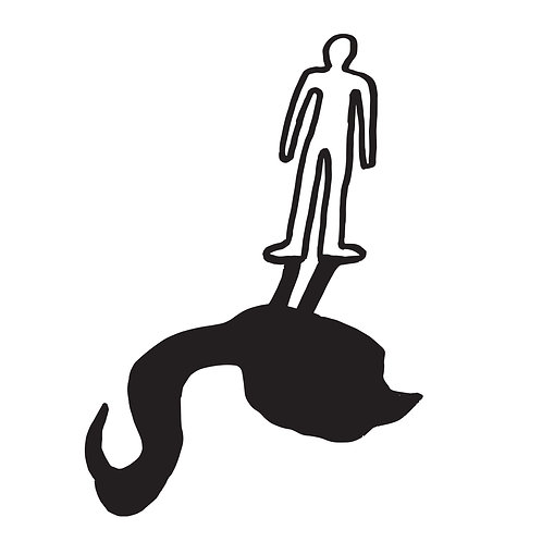 The Black Flamingo - Silhouette by Ben Connors