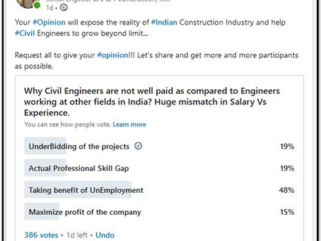 Why Civil Engineers are not well paid as compared to Engineers working at other fields in India?