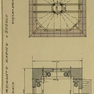Żużel k. Bełza Plan odbudowy wieży na kaplicy.