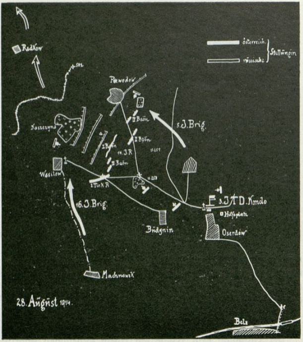 Plan sytuacyjny 28.08.1914