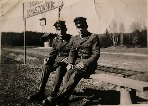 034 Lata 60-te, pierwszy z lewej Marian