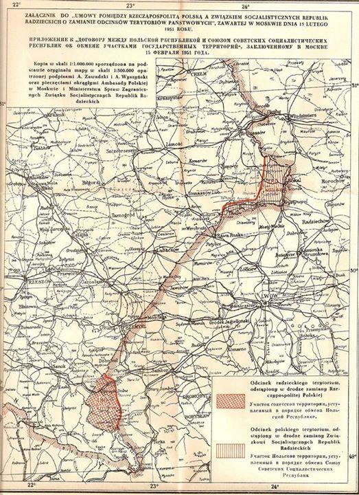 """Mapa """"wymiany"""" terenów."""