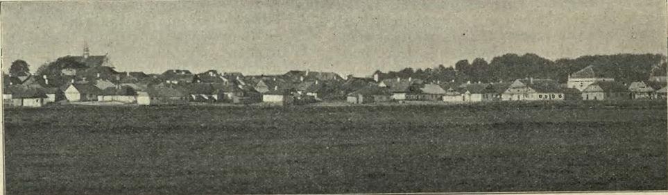 Panorama Łaszczowa z 1906 roku