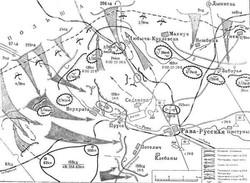 Rosyjska mapa wojskowa z 1941 roku.