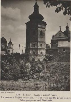Żółkiew baszta i kościół Farny