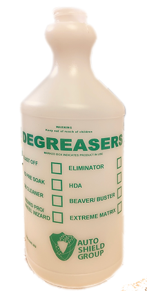 B5G Green Printed Plastic Bottle - DEGREASERS