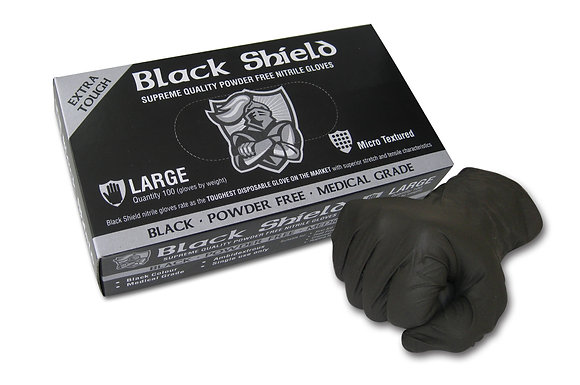 Nitrile Glove Black Shield (100 pack)