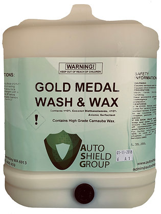 Gold Medal Wash and Wax - 20L