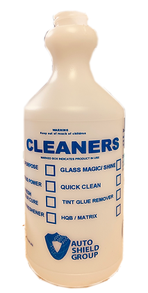 B5B Blue Printed Plastic Bottle - CLEANERS