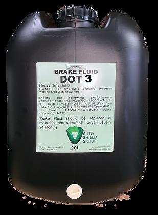 Brake Fluid Dot 3 - 20L