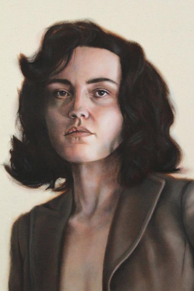 Portrait 11 (curled hair, bare centre)