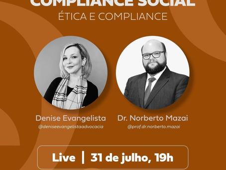 Live sobre Compliance Social:Ética e Compliance