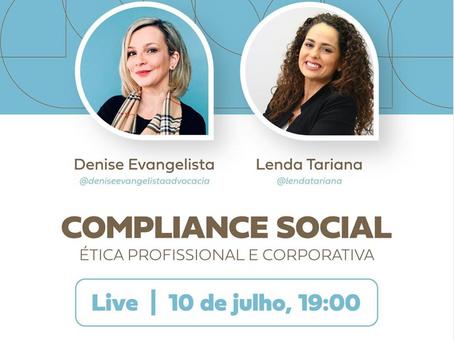 Live sobre Compliance Social: Ética Profissional e Corporativa
