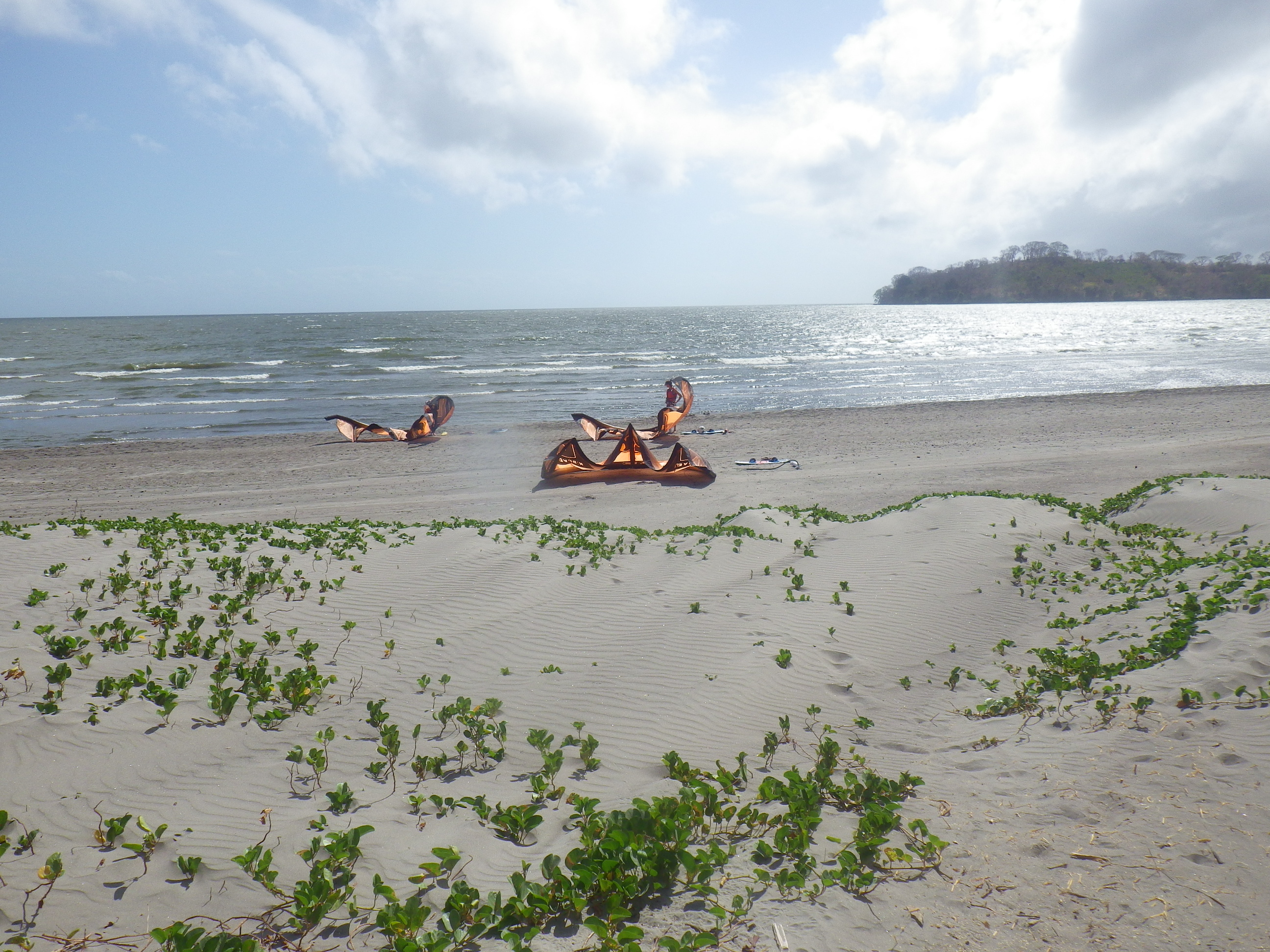 Kiteboard sur la plage Santo Domingo