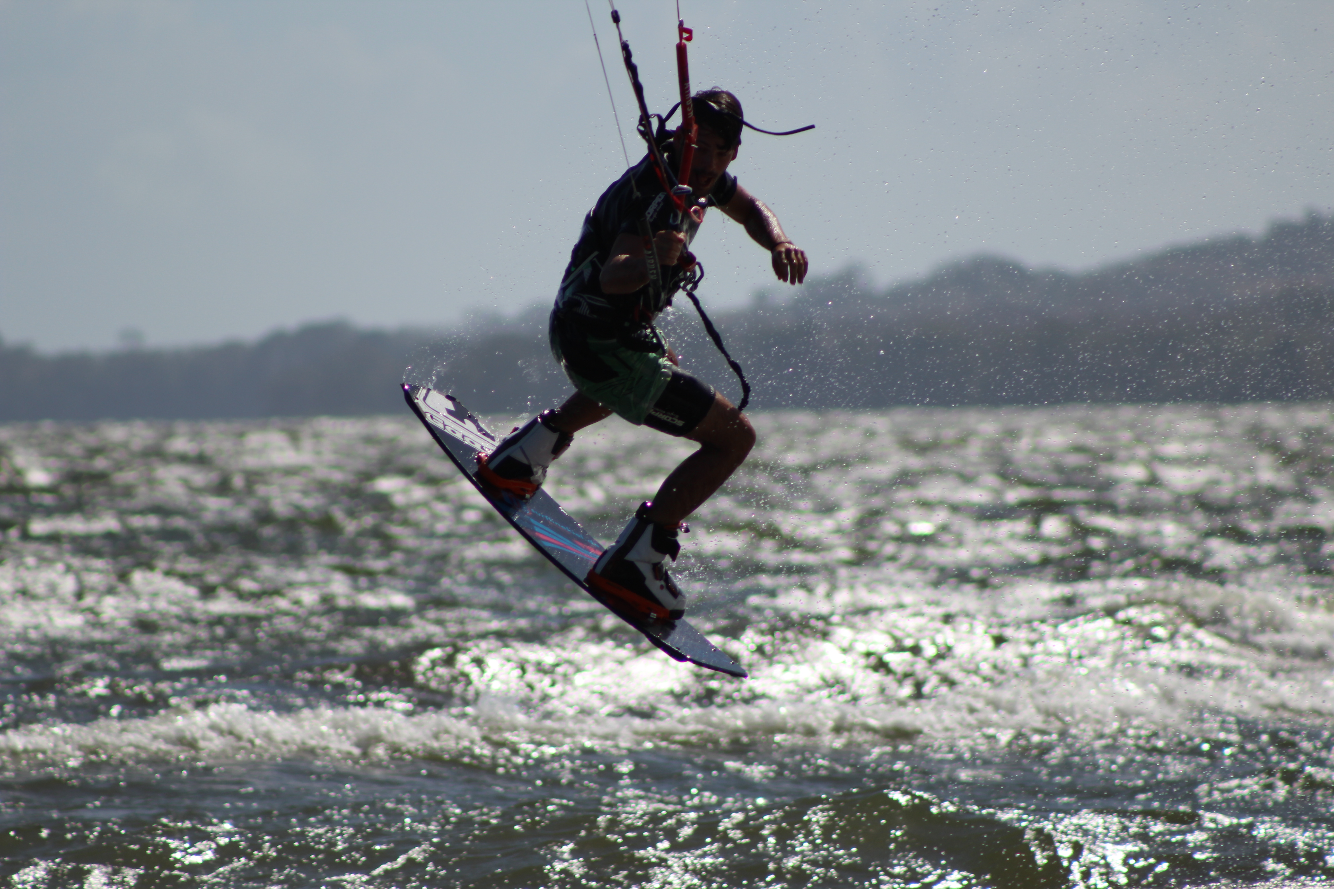 Jump with a kite in Nicaragua