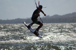 Saut en kite au Nicaragua