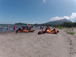 Kites sur la plage Santo Domingo