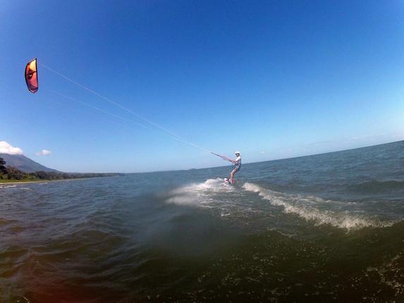 Kitesurf en la isla de Ometepe