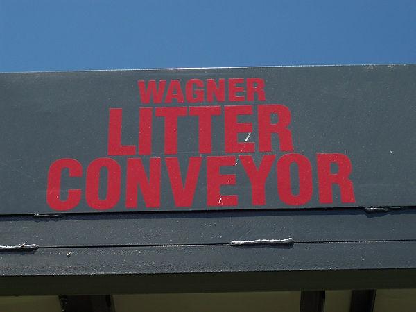 Wagner Litter Conveyor Decal