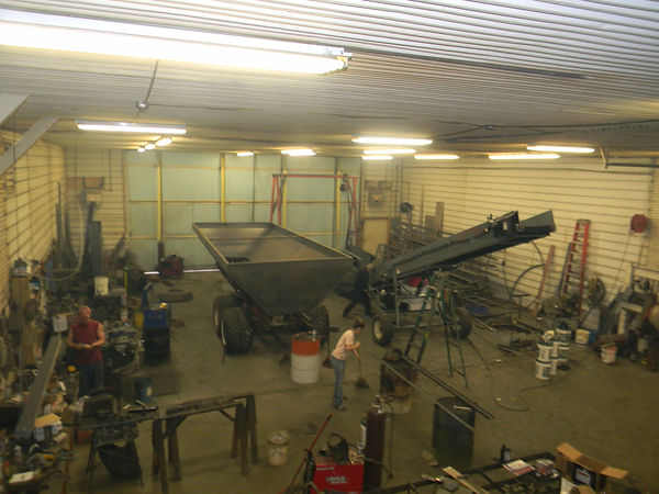 In the winter time our shop is usually full of projects