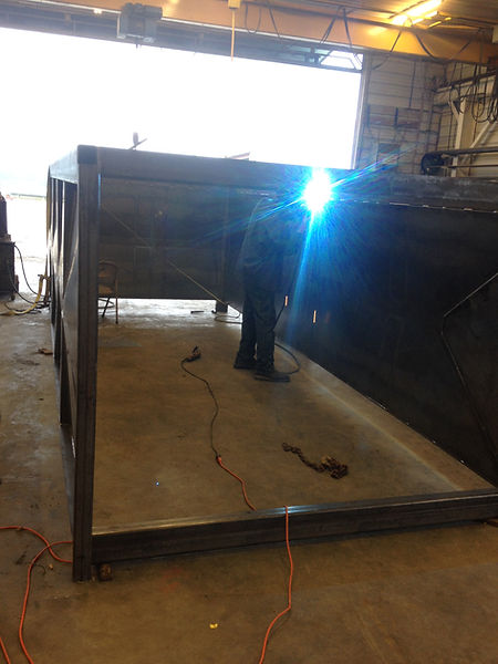 Building the grain truck bed from the ground up!