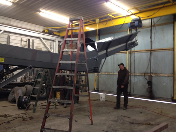 The crane in the shop has sure made the job easier to build litter conveyors