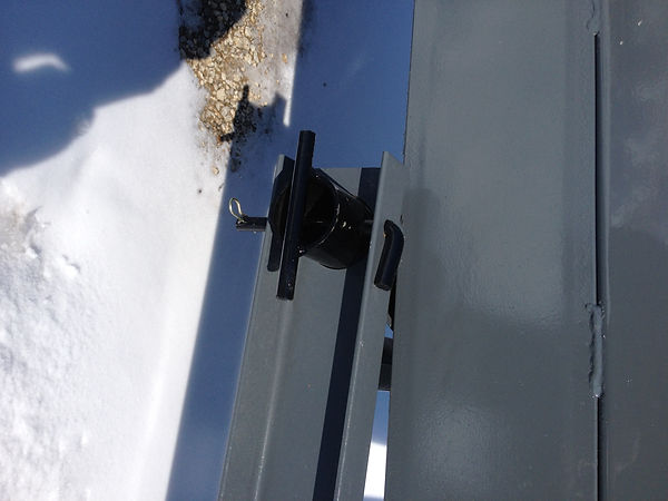 These pins make it very easy to remove the hitch off of the litter conveyor.