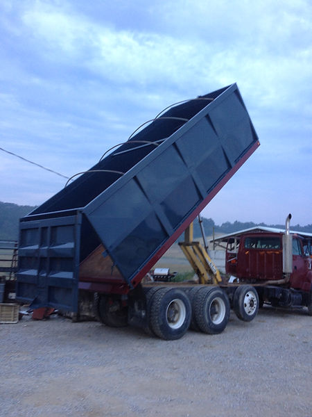 We built this grain truck bed from the ground up also.