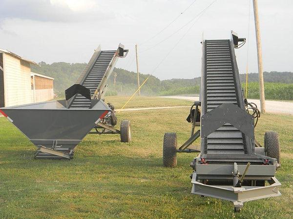 Custom built litter conveyors.  Built to last!