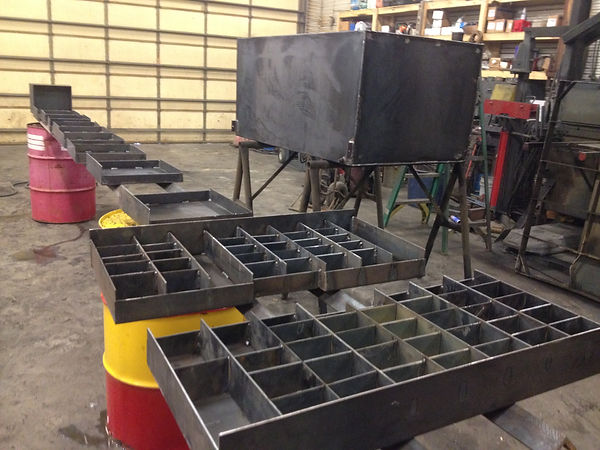 This is a picture of divider drawers and fuel tank for service bed that we built.