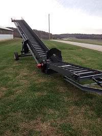 Litter Conveyor A39 Model works great for cleaning manure out of the middle of the poultry houses. Saving you time!  Several differant powering options!