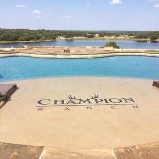 Custom designed pool on commercial hunting ranch