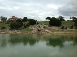 Hillside Waterfall & lined pond